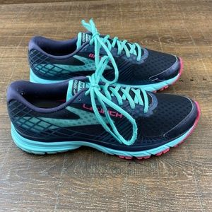 Brooks Launch 3 Running Shoes Purple Teal Pink 9